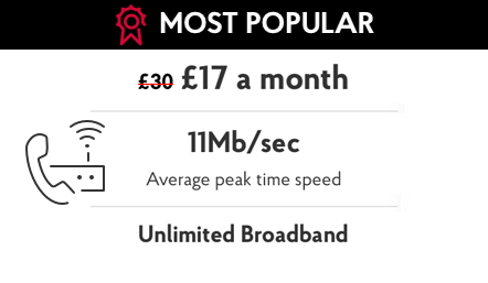 Post Office Broadband from £18 per month