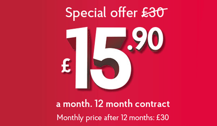 Post Office Broadband Offer £15.90 per month