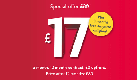 Post Office Broadband Offer with Free anytime calls